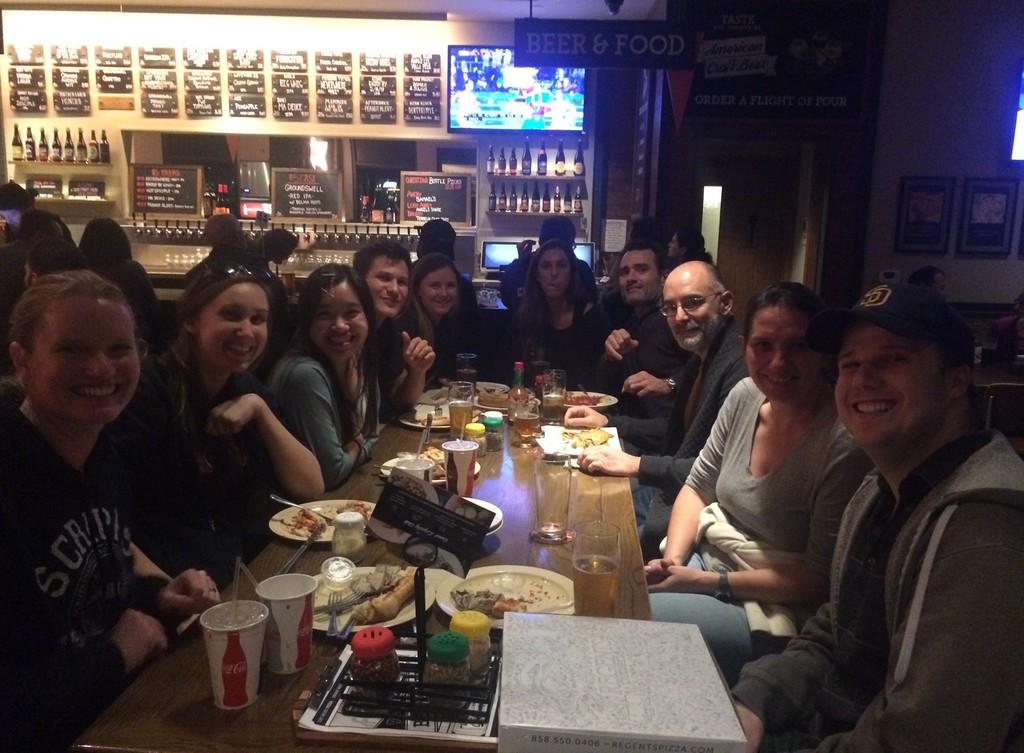 Pizza night with the Deheynlab at Regents Pizzeria